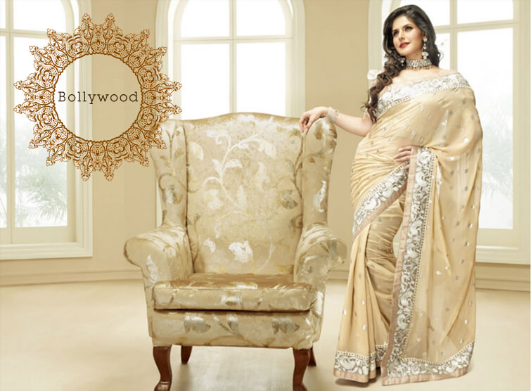 Exquisite Zarine Khan Silk Saree