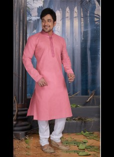 OLD ROSE POLY COTTON READY MADE KURTA SET