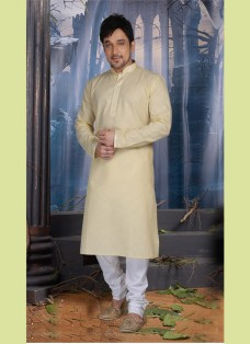 IVORY COLOR POLY COTTON READY MADE KURTA SET