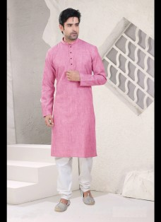 PINK COTTON READYMADE KURTA CHURIDAR SET