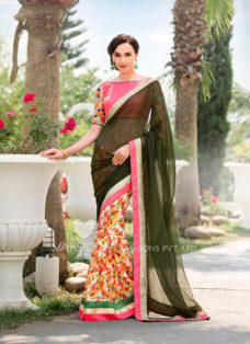IMPRESSIVE MULTI COLOR PARTY WEAR SAREE