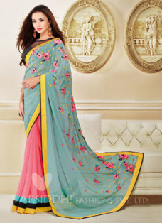 AMY JACKSON MULTI COLOR DESIGNER SAREE