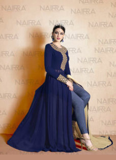 CLASSICAL NAVY BLUE EMBROIDERED SUIT