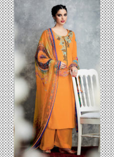 TIMELESS LIGHT ORANGE EMBROIDERED PALAZZO SUIT