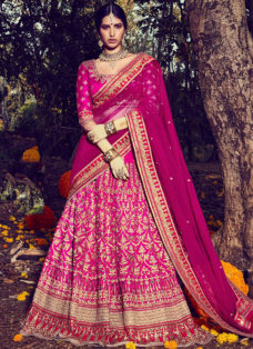 SHOWSTOPPER MAGENTA EMBROIDERED LEHENGA CHOLI