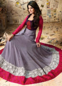 JENNIFER WINGET MAUVE EMBROIDERED ANARKALI SUIT