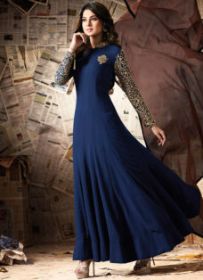 JENNIFER WINGET NAVY BLUE DESIGNER ANARKALI SUIT