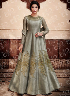 SILVER GREY DESIGNER EMBROIDERED WEDDING SUIT