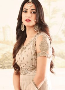 SONAL CHAUHAN LIGHT COFFEE GEORGETTE DESIGNER SUIT
