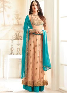 SONAL CHAUHAN LIGHT PEACH PARTY WEAR SUIT