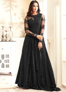 SONAL CHAUHAN BLACK GEORGETTE PARTY WEAR SUIT