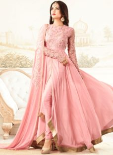 SONAL CHAUHAN LIGHT PINK GEORGETTE DESIGNER SUIT