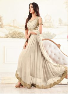 SONAL CHAUHAN LIGHT BEIGE PARTY WEAR DESIGNER SUIT